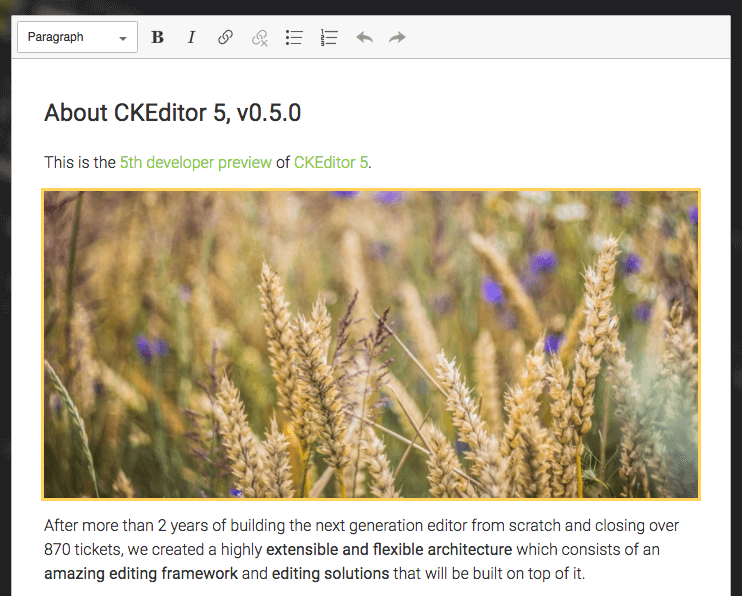 Image feature in CKEditor 5