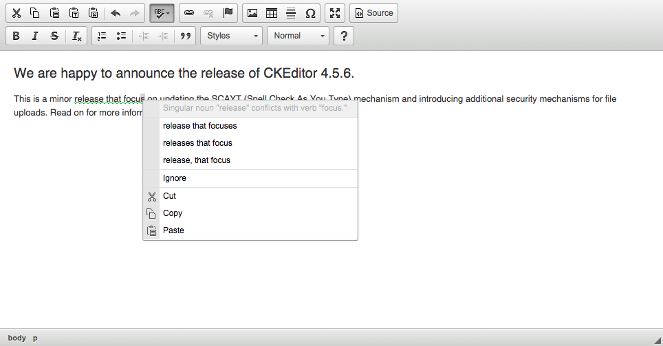 GRAYT in CKEditor 4.5.6