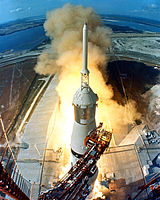 Saturn V carrying Apollo 11
