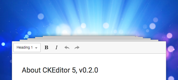 Second Developer Preview of CKEditor 5 Available image