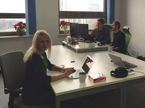 WebSpellChecker team working from CKSource office