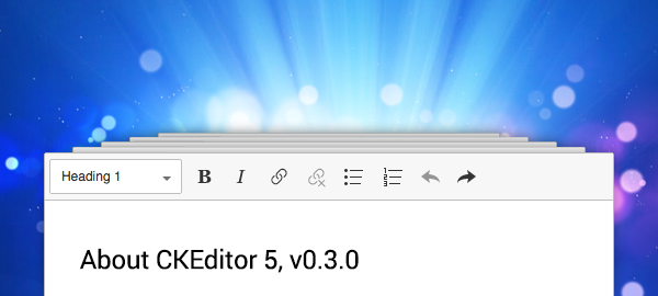 Third Developer Preview of CKEditor 5 Available image