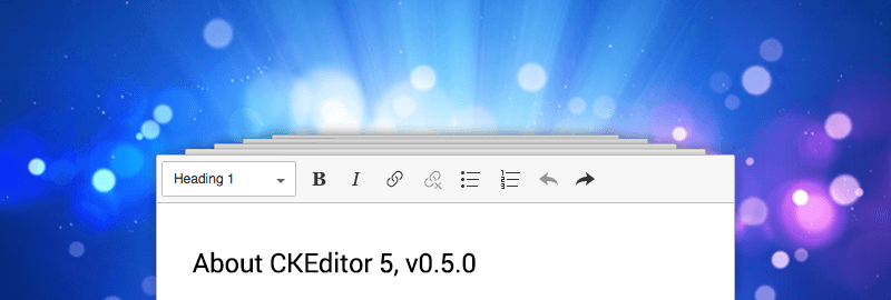 Fifth developer preview of CKEditor 5 available image