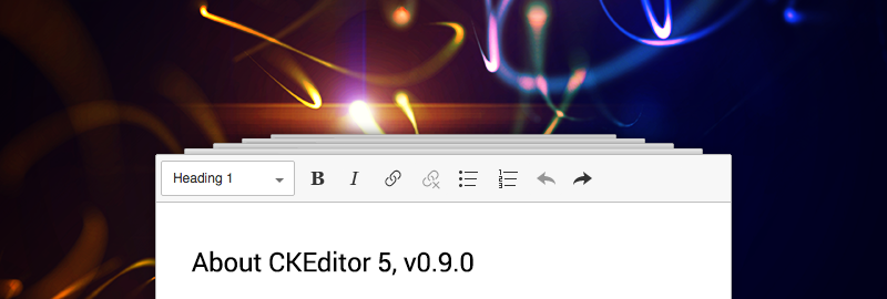 CKEditor 5 v0.9.0 blogpost image