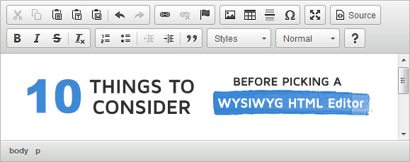 10 Tips on How to Pick a WYSIWYG Editor