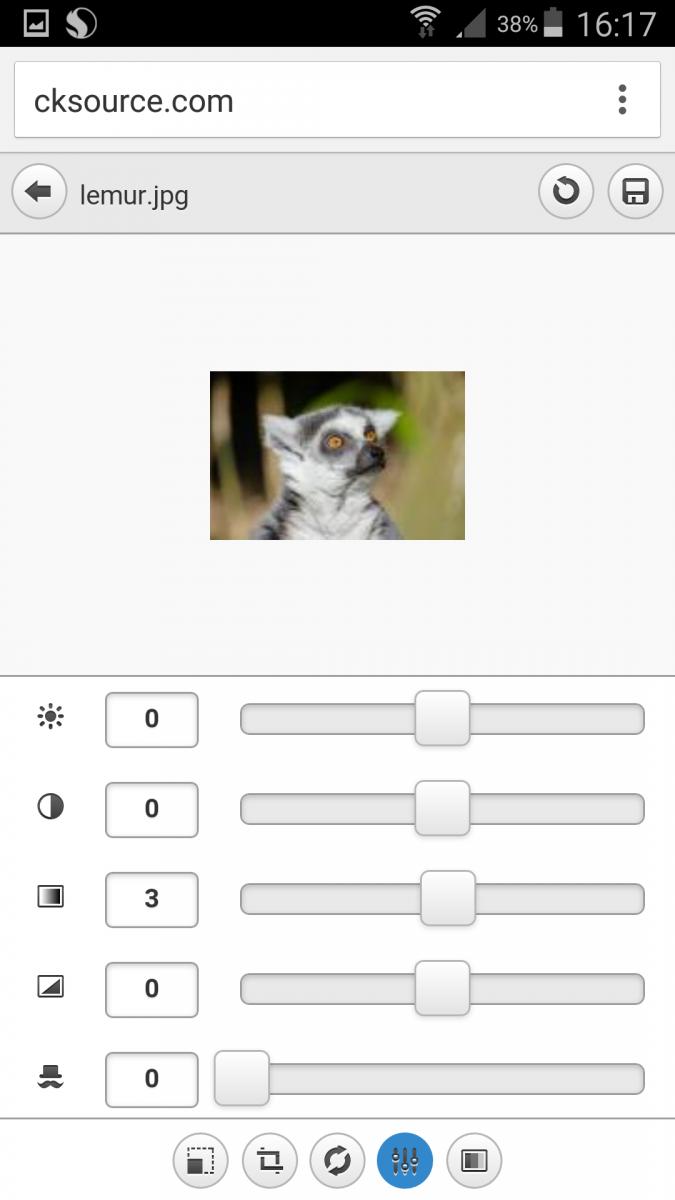 CKFinder image editing on mobile