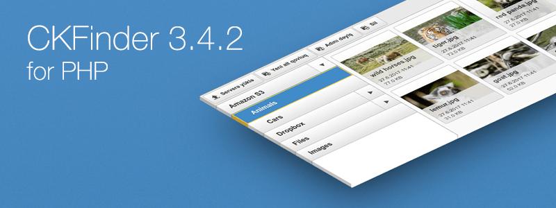 CKFinder 3.4.2 for PHP release blog post