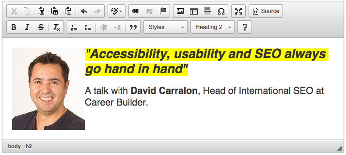 Talk with David Carralon on web accessibility and SEO